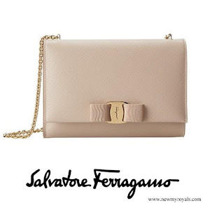 Princess Sofia carried SALVATORE FERRAGAMO Clutch