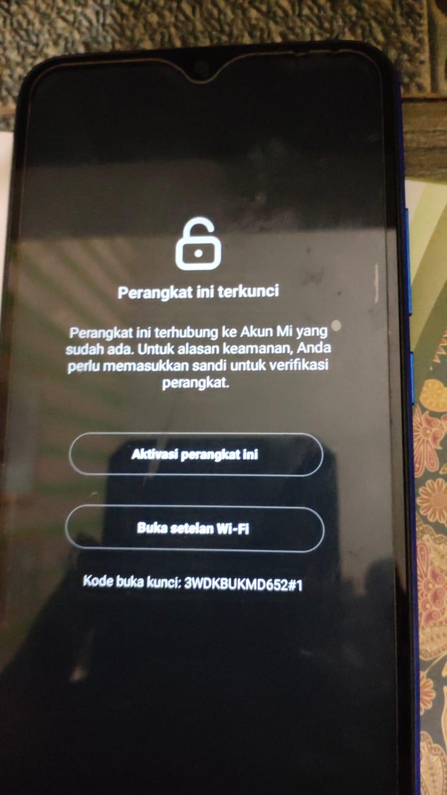 Cara ByPass Redmi 9A Dandelion Locked Mi Account
