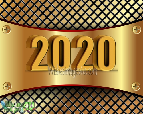 Happy New Year 2020 Ultra HD Golden Photo Greetings Download Free