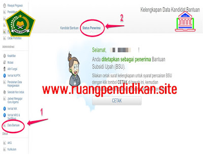 menu Data Bantuan