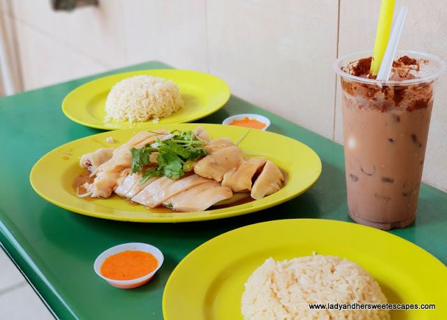 Tian Tian Hainanese Chicken Rice with Milo Dinosaur