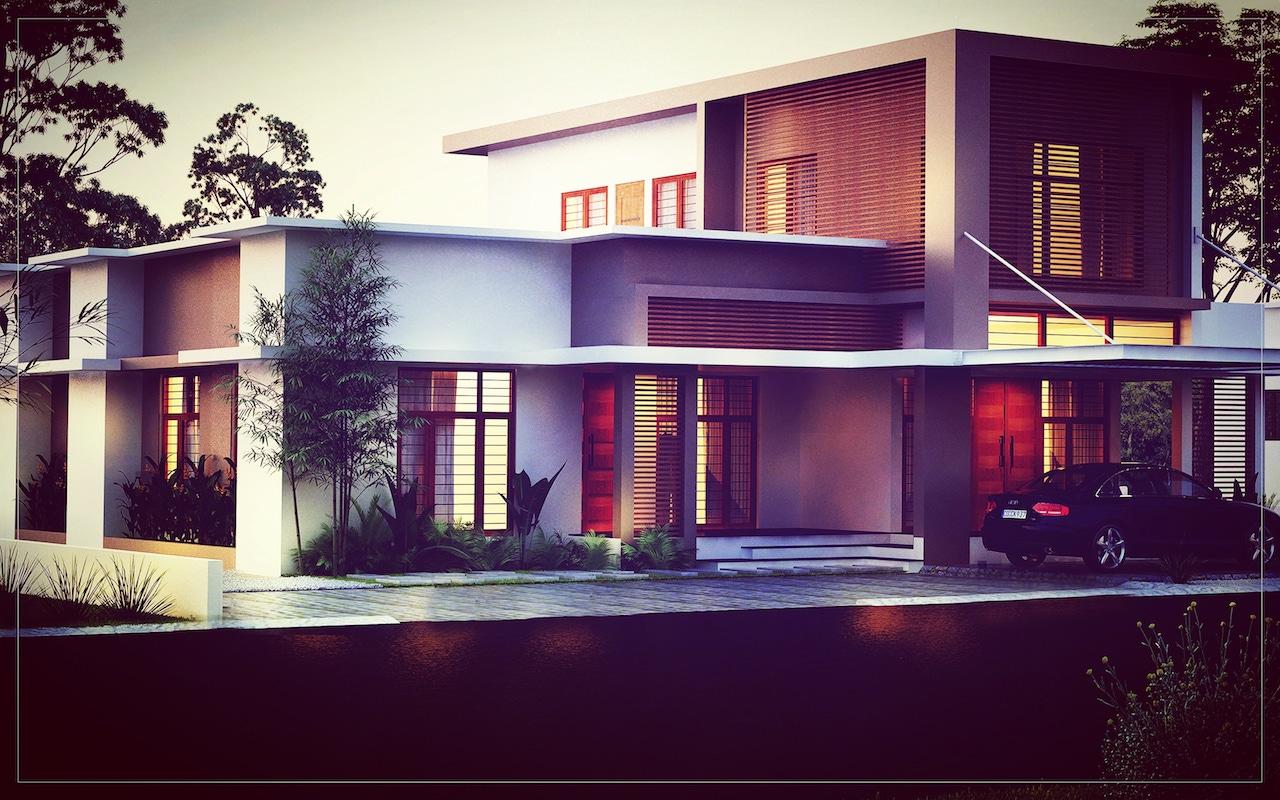 Good house elevations Kerala 3 Bedroom