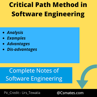 Critical Path Method(CPM) in software enineering