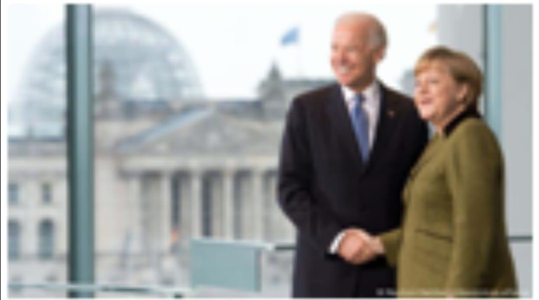 ميركل وبايدن يتفقان على تعزيز العلاقات ومواجهة التحديات الدولية