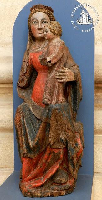 DIJON (21) - Musée d'Art Sacré : Vierge à l'Enfant de Dracy-Chalas (Fin XIVe)