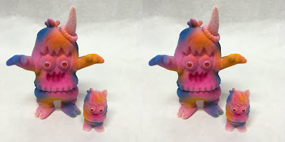 San Diego Comic-Con 2020 Exclusive Summer Slime Flocked Ugly Unicorn & Micro Ugly Unicorn Vinyl Figure Set by Rampage Toys