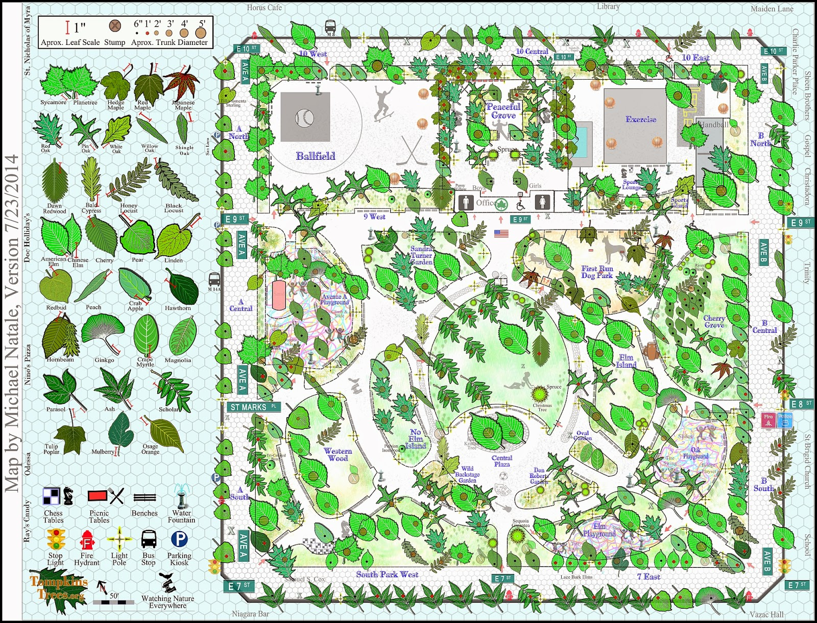 Local Ecologist Maps of NYC Street and Park Trees