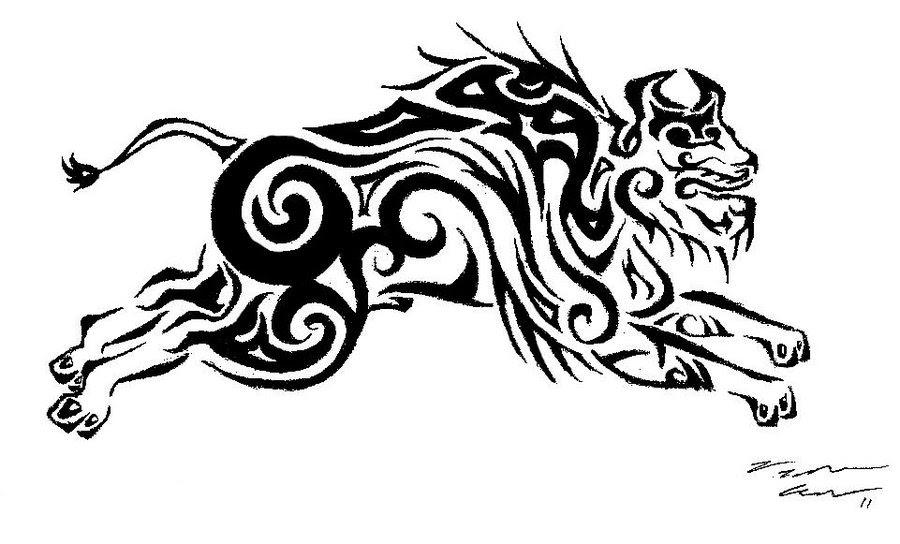 tattoovorlagen bueffel tattoo motive tattoo vorlagen. Black Bedroom Furniture Sets. Home Design Ideas