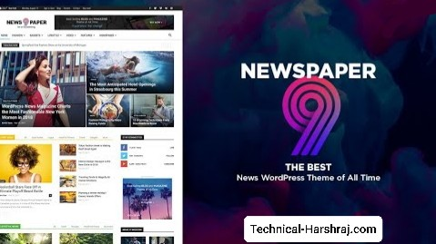 NewsPaper 9 Blogger Template Responsive Free Download 2020 | Free Blogspot Template