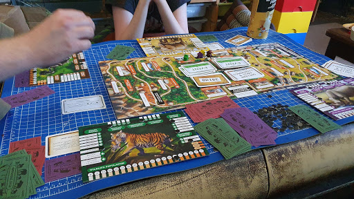 Conservation Crisis Game review table top layout gameplay 4 player mid game