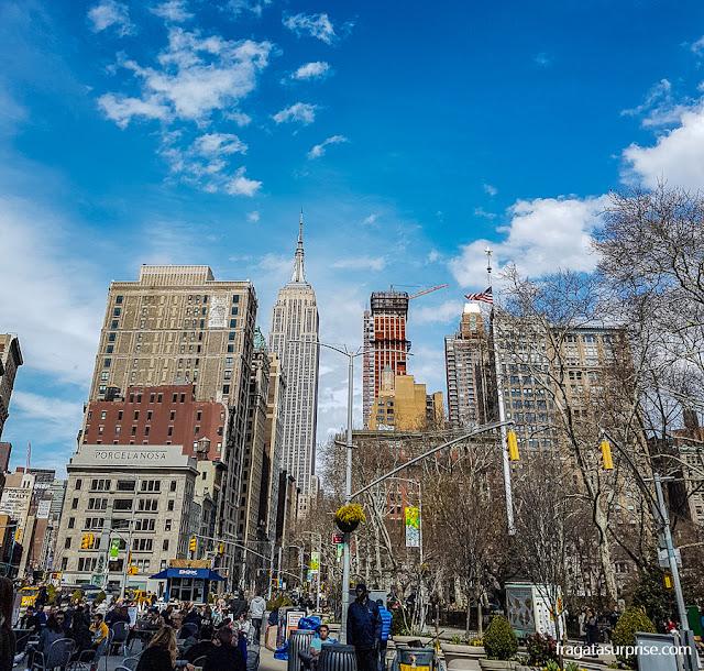 Empire State Building visto de Madison Park, Nova York