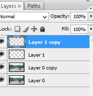 Duplikat layer, Layer 1 copy