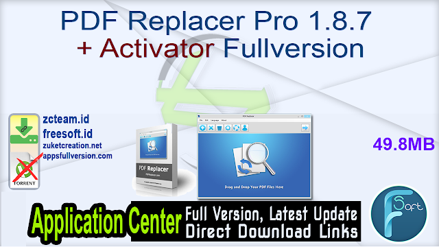 PDF Replacer Pro 1.8.7 + Activator Fullversion