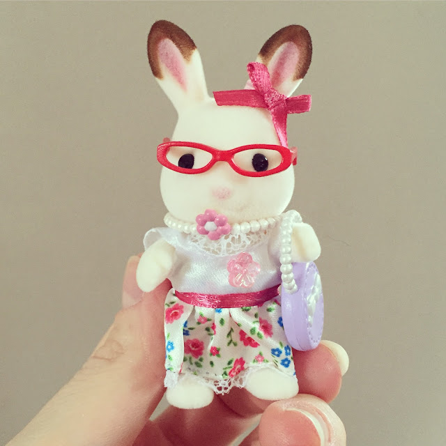 Freya Chocolate Rabbit with Accessories from Sylvanian Families