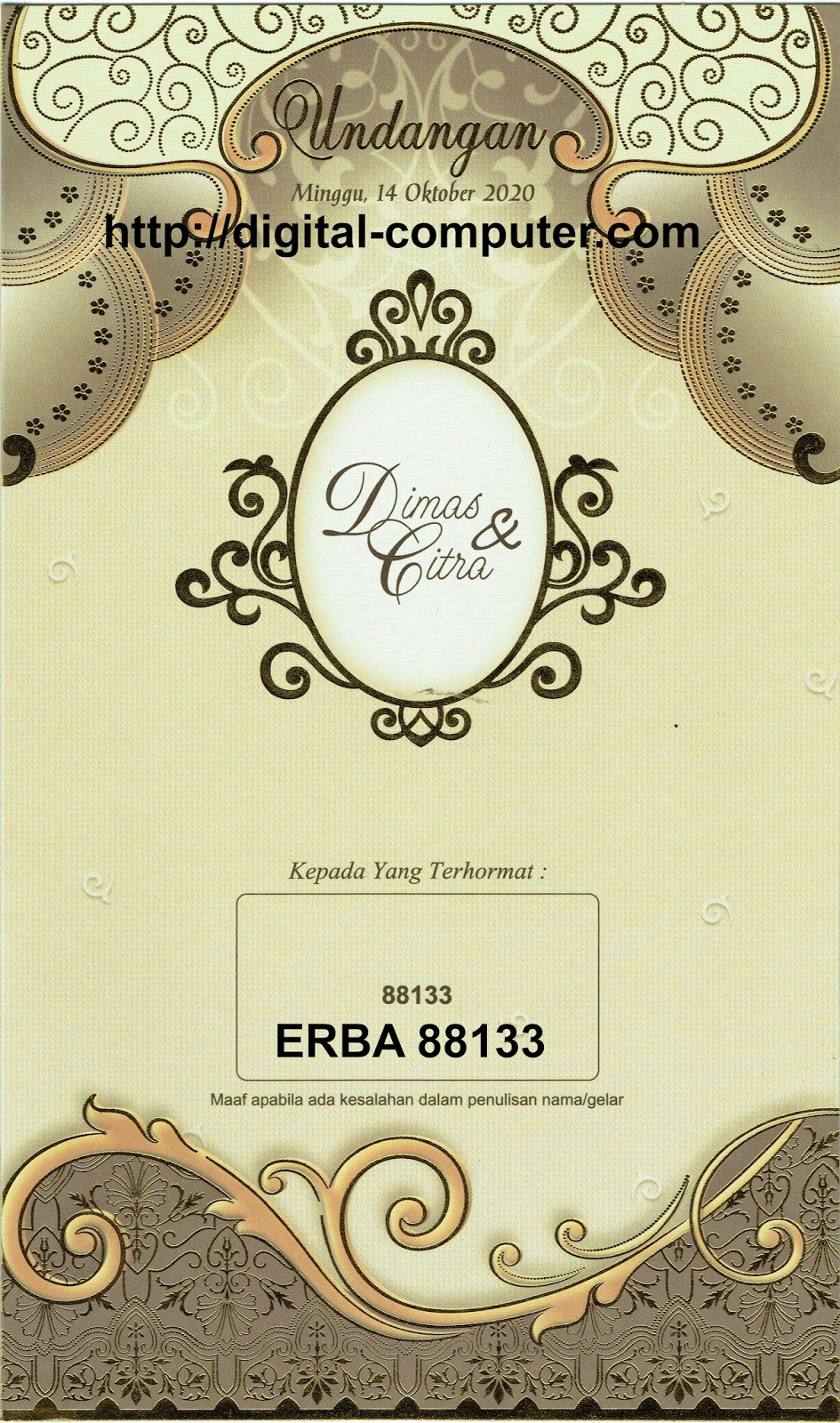 Undangan Softcover ERBA 88133