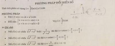 Giải bài tập tích phân bằng phương pháp đổi biến số