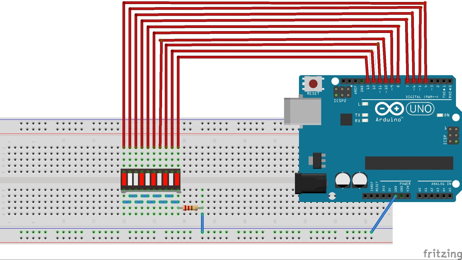 Fun with electronics and sensors: Arduino knight rider ...