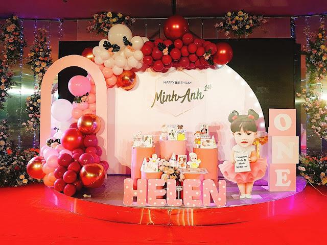 Nhận trang trí sinh nhật tại nhà Hoàng Mai