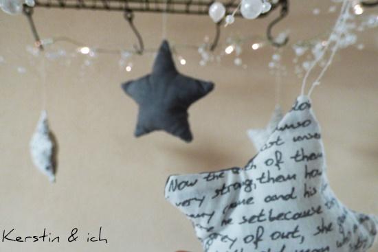 selbstgenähte Sterne Vorweihnachtszeit Advent