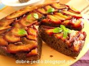 Obrátený slivkový koláč - recept