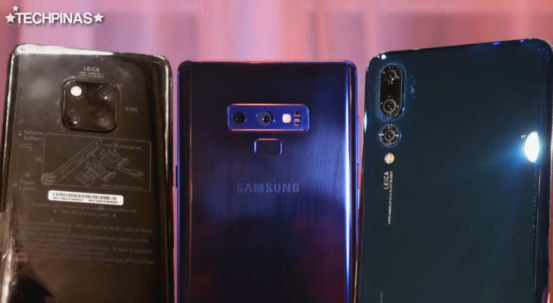 Huawei Mate 20 Pro vs Samsung Galaxy Note9 vs Huawei P20 Pro