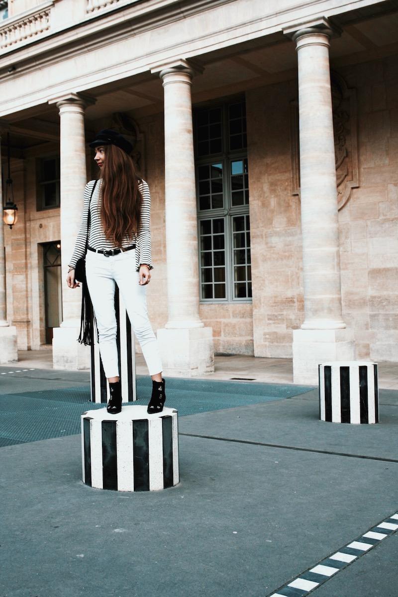 street style paris 2017 colonne buren blog mode cheveux long