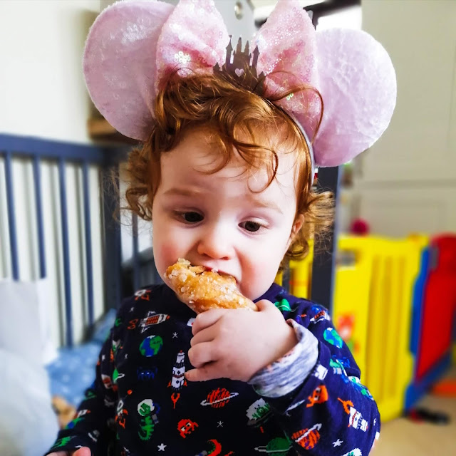 Mini wearing Minnie ears