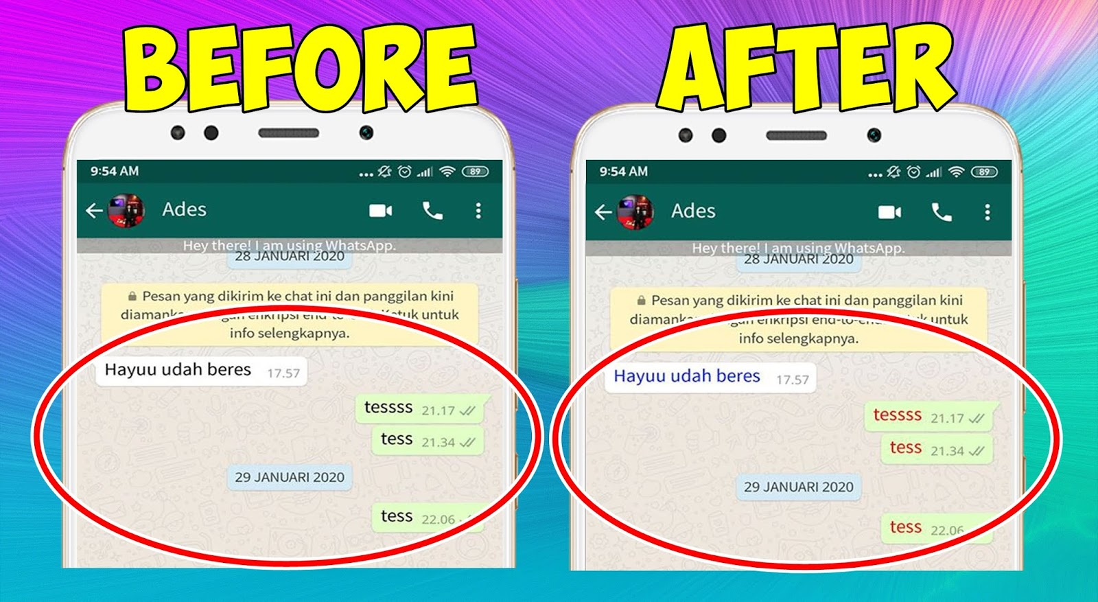 Cara Merubah Warna Font Chat Whatsapp Tanpa Aplikasi Tambahan Rumah Multimedia