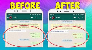 Cara Merubah Warna Font Chat Whatsapp Tanpa Aplikasi Tambahan