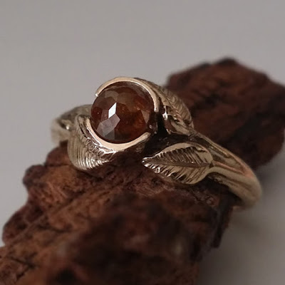 Engagement Rings, diamond engagement Rings, promise ring, raw stone engagement ring, raw diamond ring, rings, twig engagement ring, twig ring, leaf ring