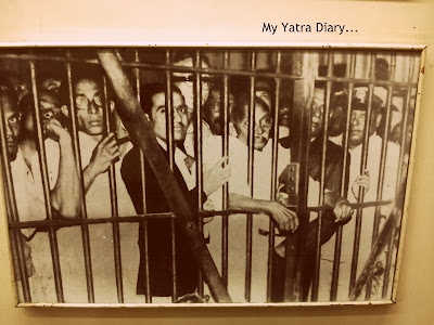 A picture of Gandhiji in jail, Sabarmati ashram, Ahmedabad - Gujarat