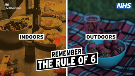 Indoors and outdoors remember the rule of 6