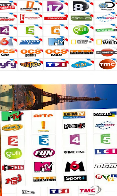 Fréquence TF1 , National Geographic, France O, France 2, France 3, France 4 et autres chaines françaises