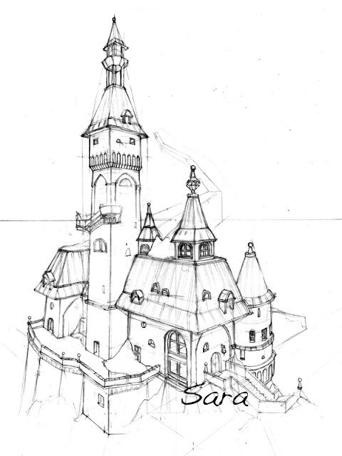 disegno castello