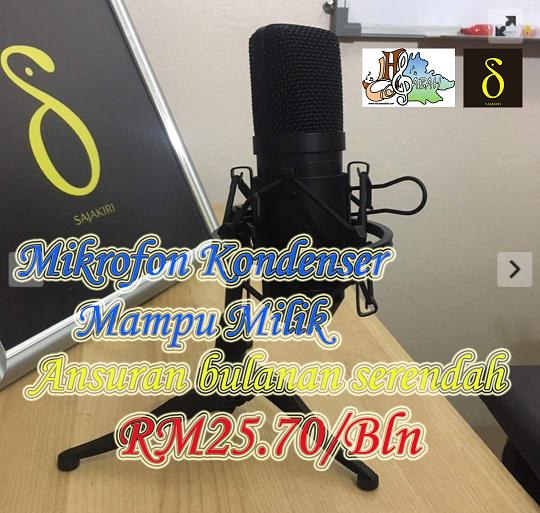 Mikrofon kondenser mampu milik. Ansuran bulanan serendah RM25.70