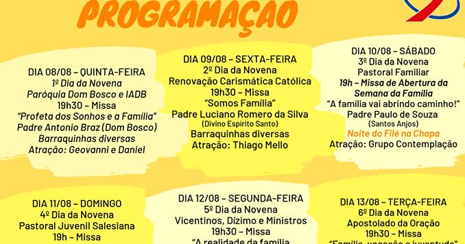 Guarapuava: Paróquia São João Bosco promove festa do