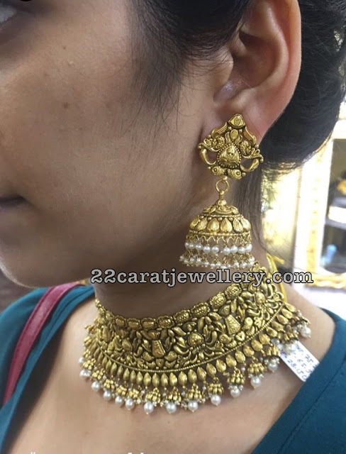 Antique Choker Jhumkas