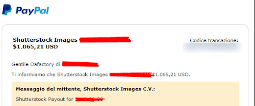 Aturan Payout di Shutterstock Via PayPal