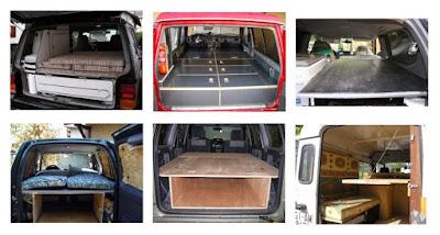 Sleeping inside 4x4 buildup camping car