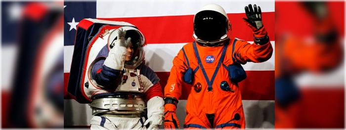 novos trajes espaciais