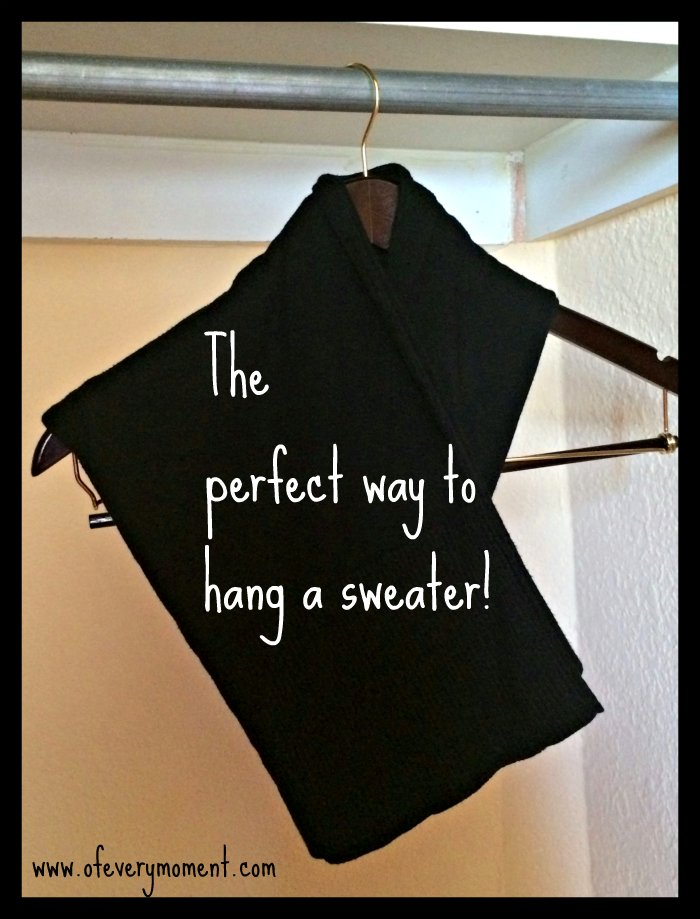 This is a really simple trick for hanging up a sweater