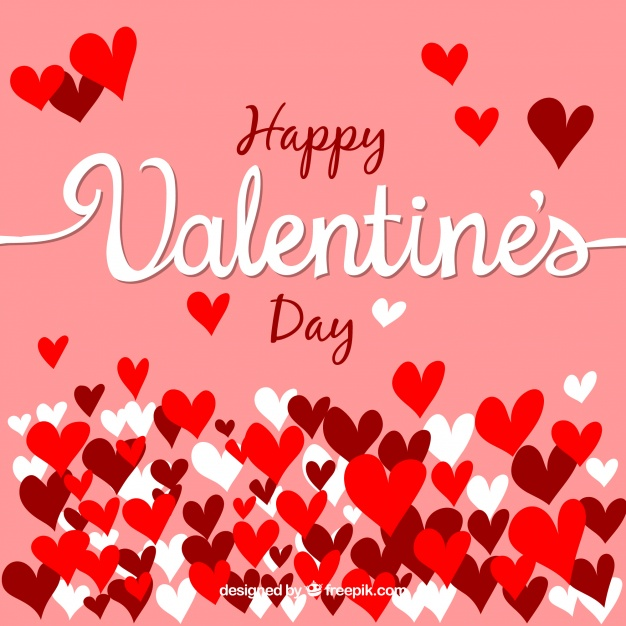 Pink valentines day background design Free Vector