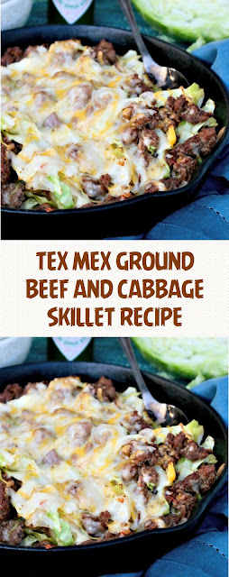 TEX MEX GROUND BEEF AND CABBAGE SKILLET RECIPE