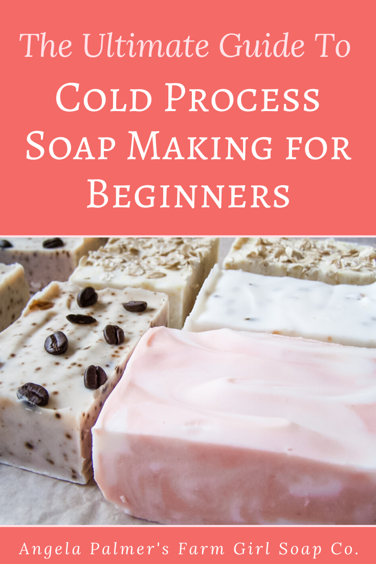 Learn how to make soap from scratch with this ultimate cold process soap making for beginners guide. By Angela Palmer at Farm Girl Soap Co.