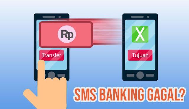 Transaksi SMS Banking BRI Gagal