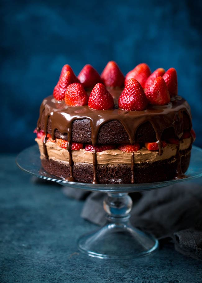 best Strawberry chocolate cake