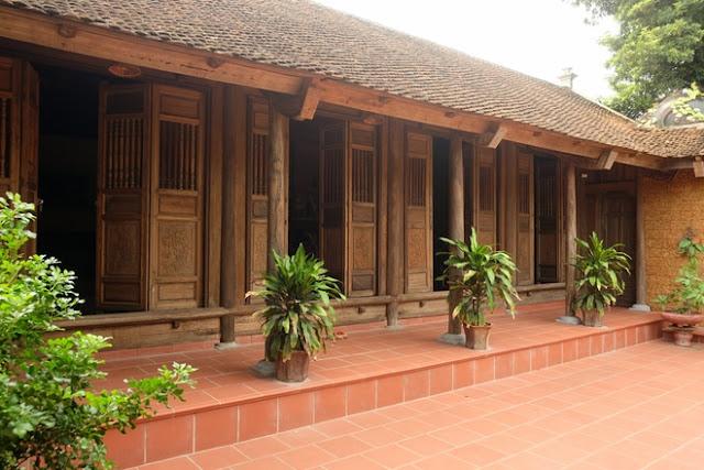 nhà gỗ 5 gian cổ