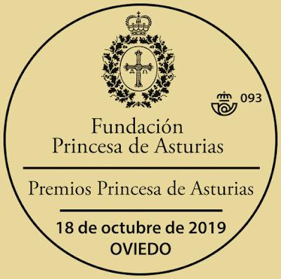 Matasellos de los Premios Princesa de Asturias