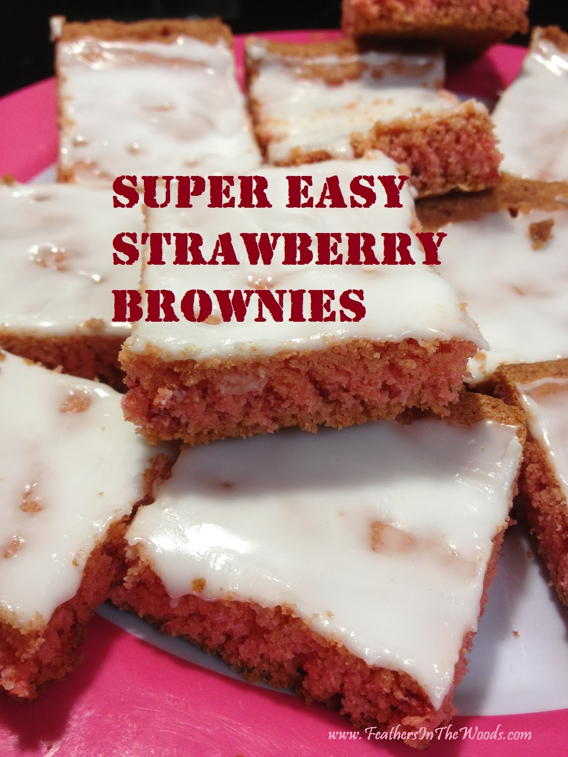 easy strawberry brownies