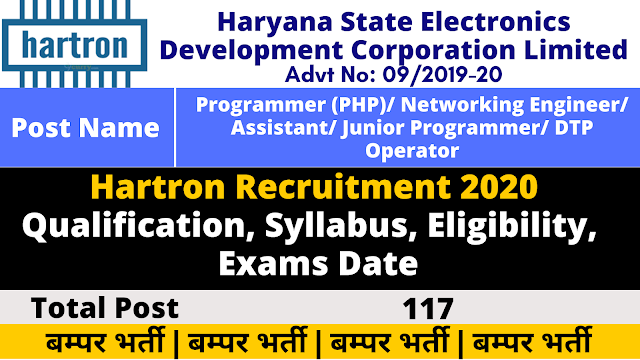 Hartron Syllabus for Programmer, Networking Engineer, Assistant, DTP Operator, Data Entry Operator, System Analyst